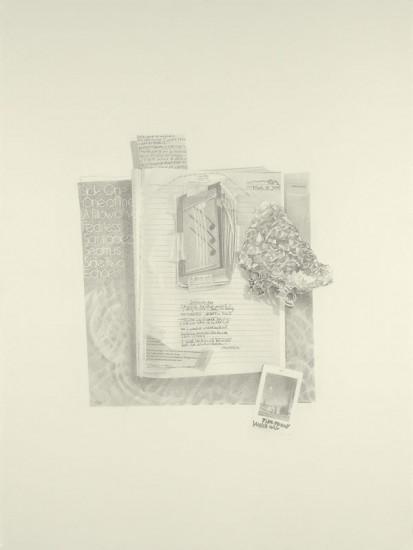 Josephine Taylor,  Outside In , 2018, Graphite on paper, 29 3/4 x 22 1/2 inches.  Image courtesy of Catharine Clark Gallery