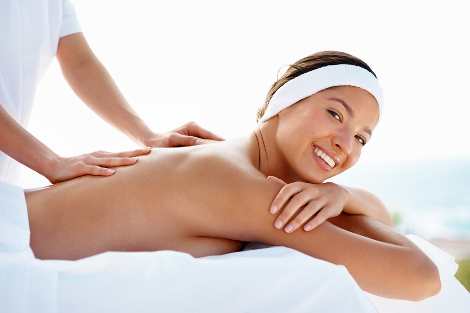 woman on massage table