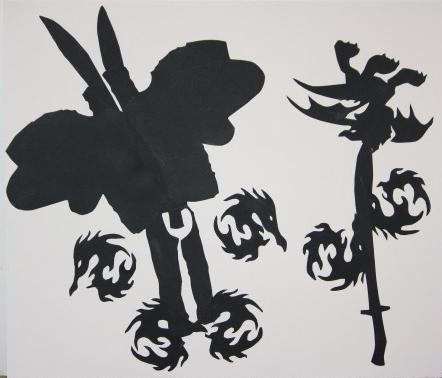 Butterfly/flower silhouette