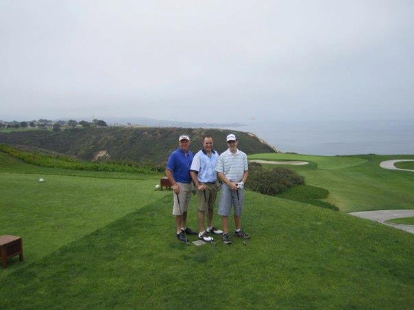 Pro-Line Dave with sons golfing at prestigious Torrey Pines, in Southern California.