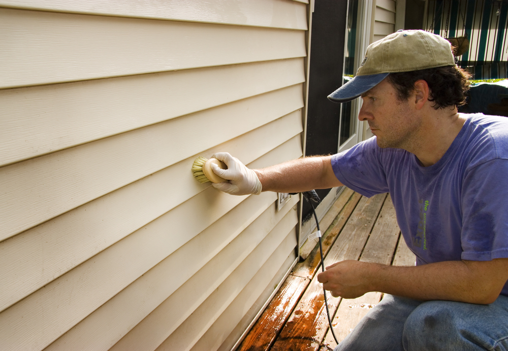 Getting down and close to lower parts of your vinyl siding may be one of the best ways to make sure you have a thorough cleaning.