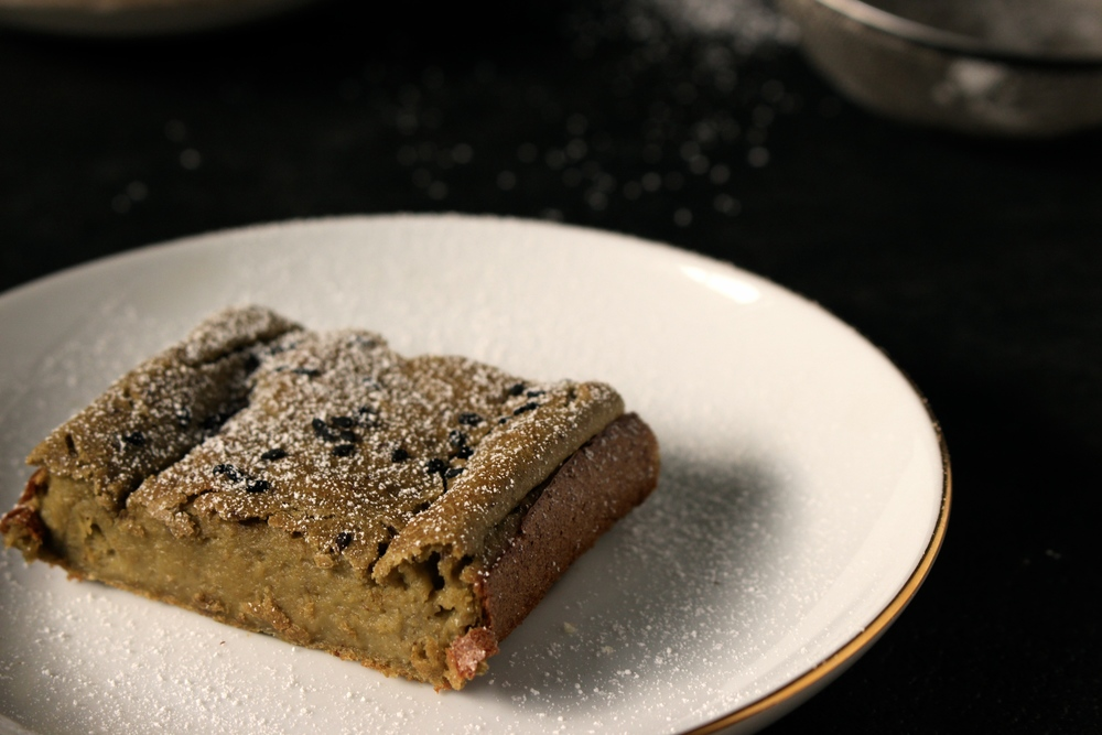 banana matcha green tea bread / pound cake [Vegan & gluten free recipe]