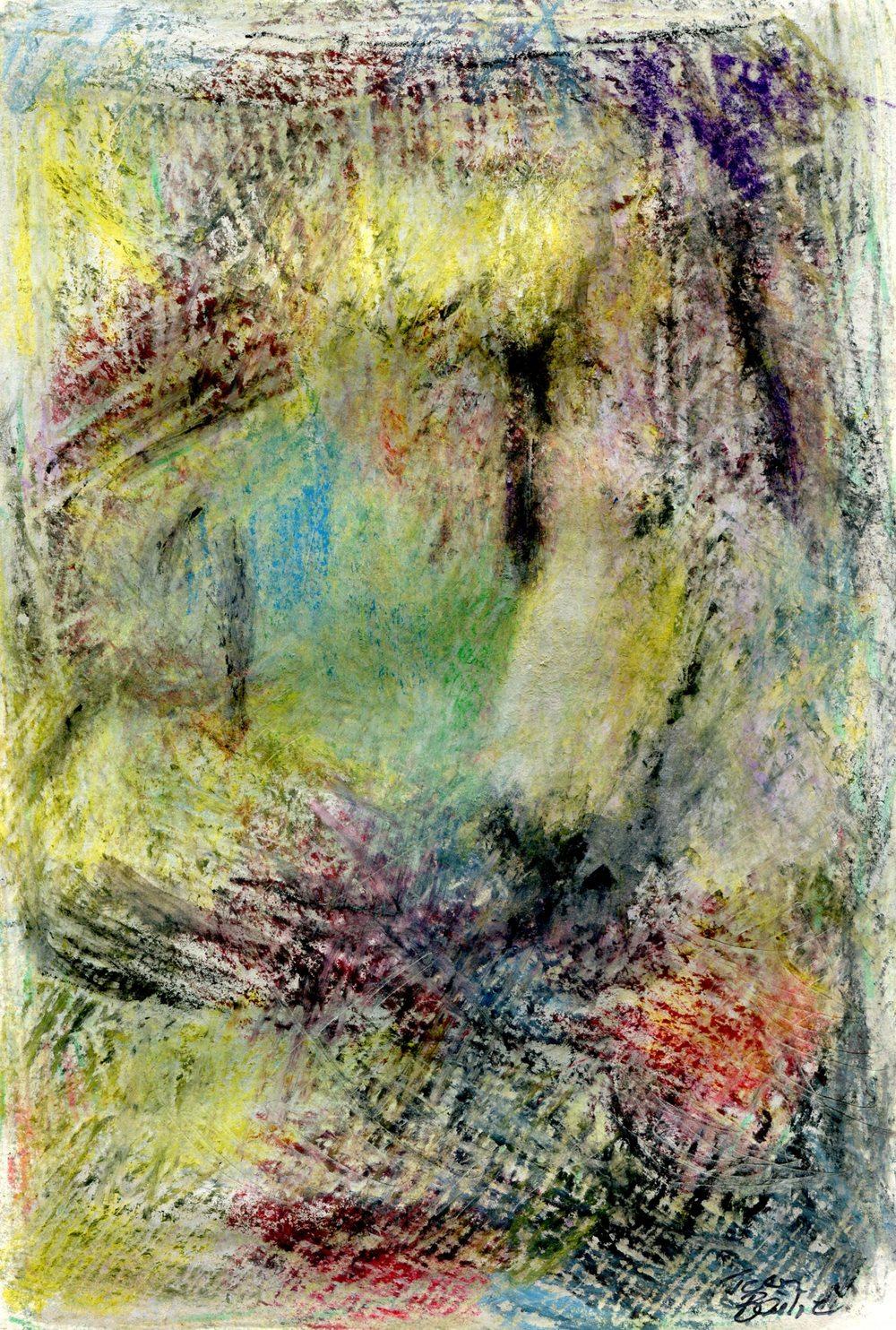 Bailie, Jean 73b        Quiet Space, Crayon on paper