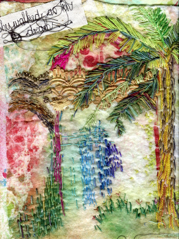 Barnard, Elaine  66 (left  hand detail)     She Walks as in a Dream, Fibre art
