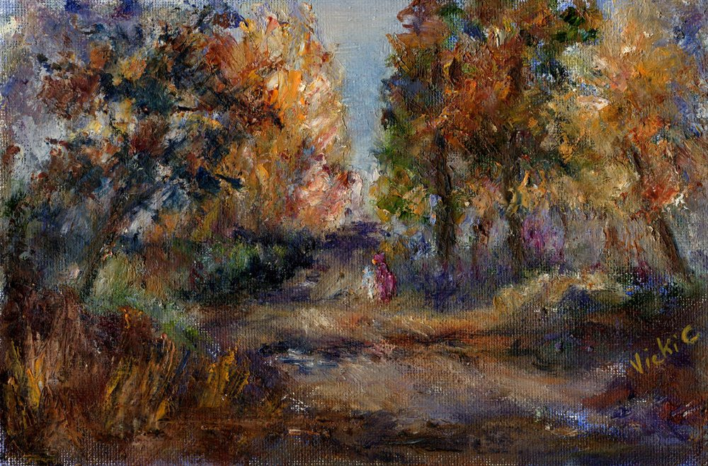 Cressey,  Vicki  42a  Forest Walk, Oil on canvas.