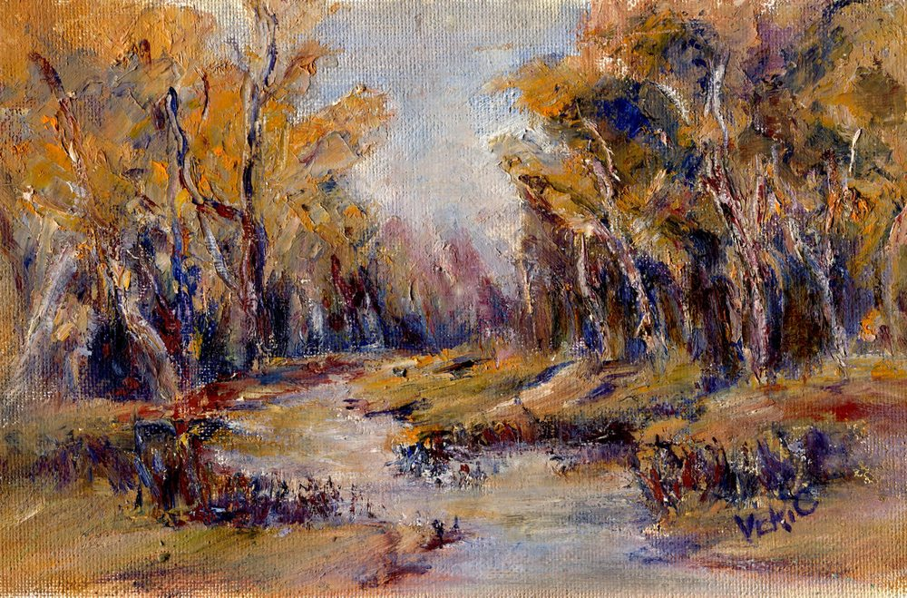 Cressey, Vicki    42b  Forest Stream, Oil on canvas.