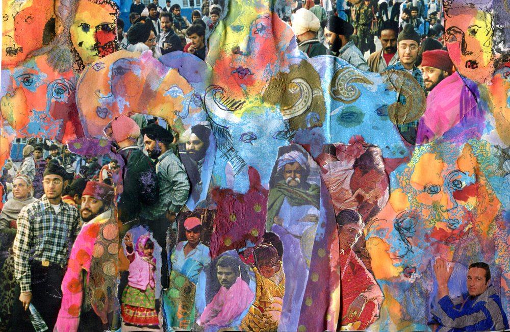 Faulds, Jutta 55b     Delhi Station, Finding the Way, Collage.jpg
