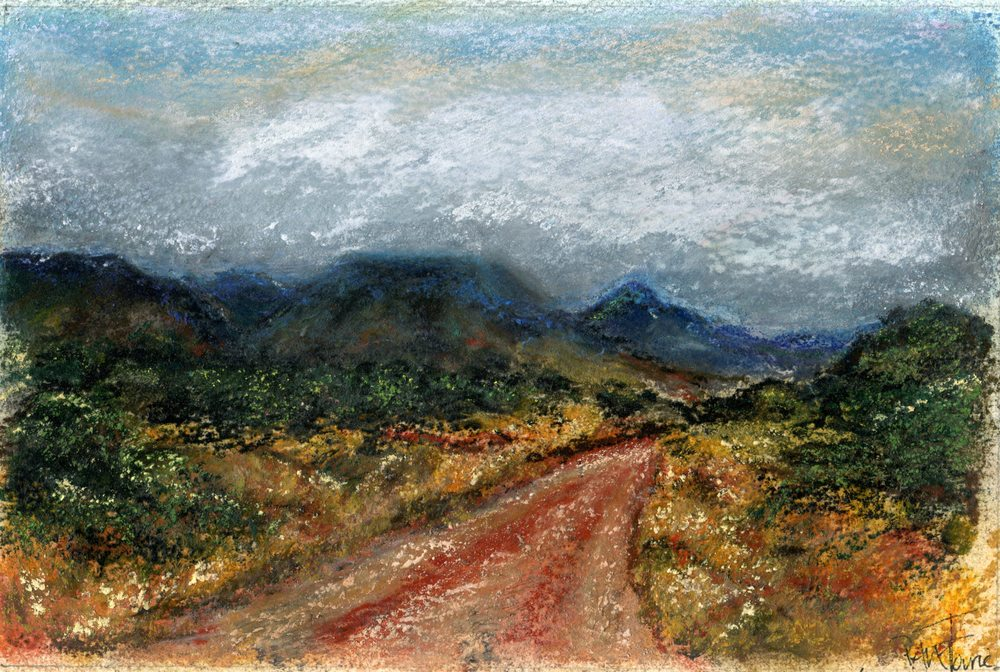 Fourie, Pamela 17a  Camdeboo Mountains, Pastel.