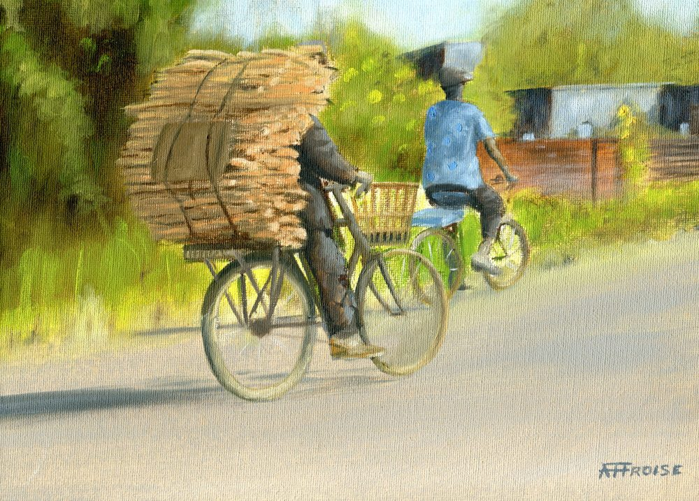 Froise, Fred  27a  Malawi Taxi, Oil on canvas.