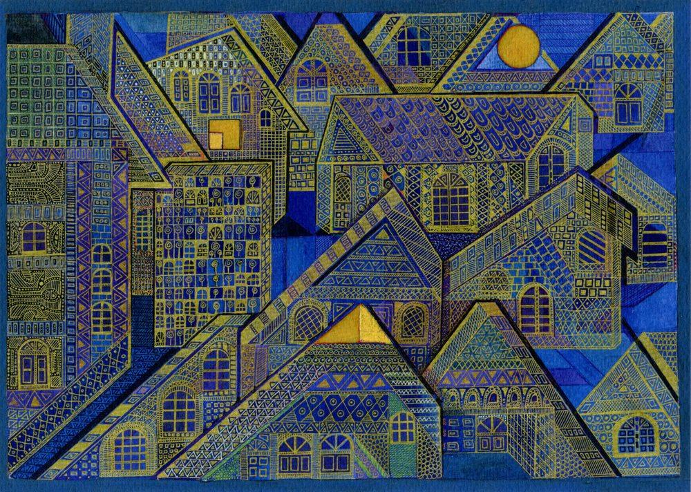 Gerhardt, Gillian 6a  Construction VIIII Giclee print.
