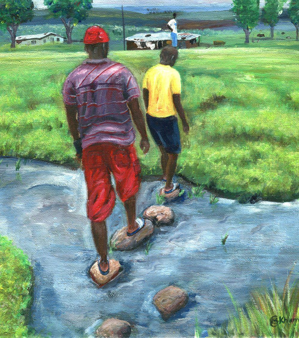 Khumalo, Mzwandile   77a Willowfountain River, Oil on canvas.jpg