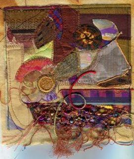 McMaster, Annette 56, Burnt, Fibre art.