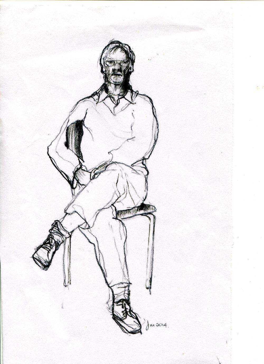 Millborrow, Jennie 30b Moray, Pencil drawing.