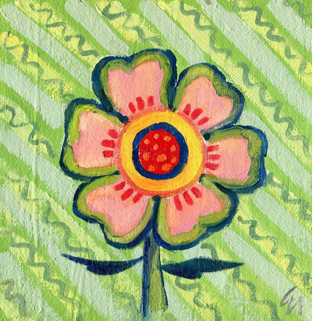 Nicholson, Gill 50c Flower 3, Oil on board.jpg