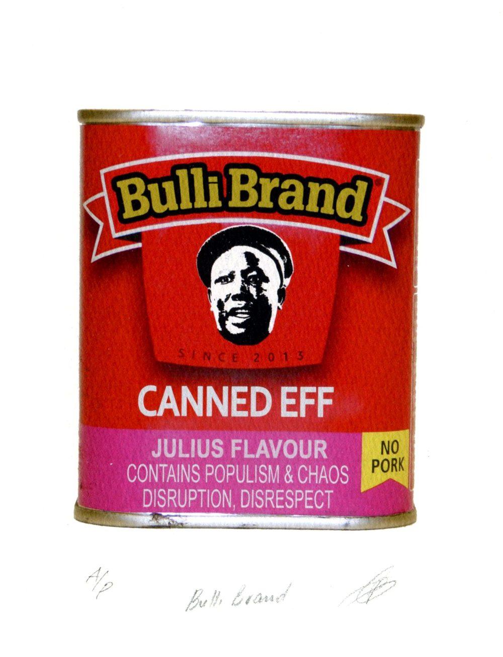 Ntshangase, Phumlani  48, Bull Brand, Digital print (AP).