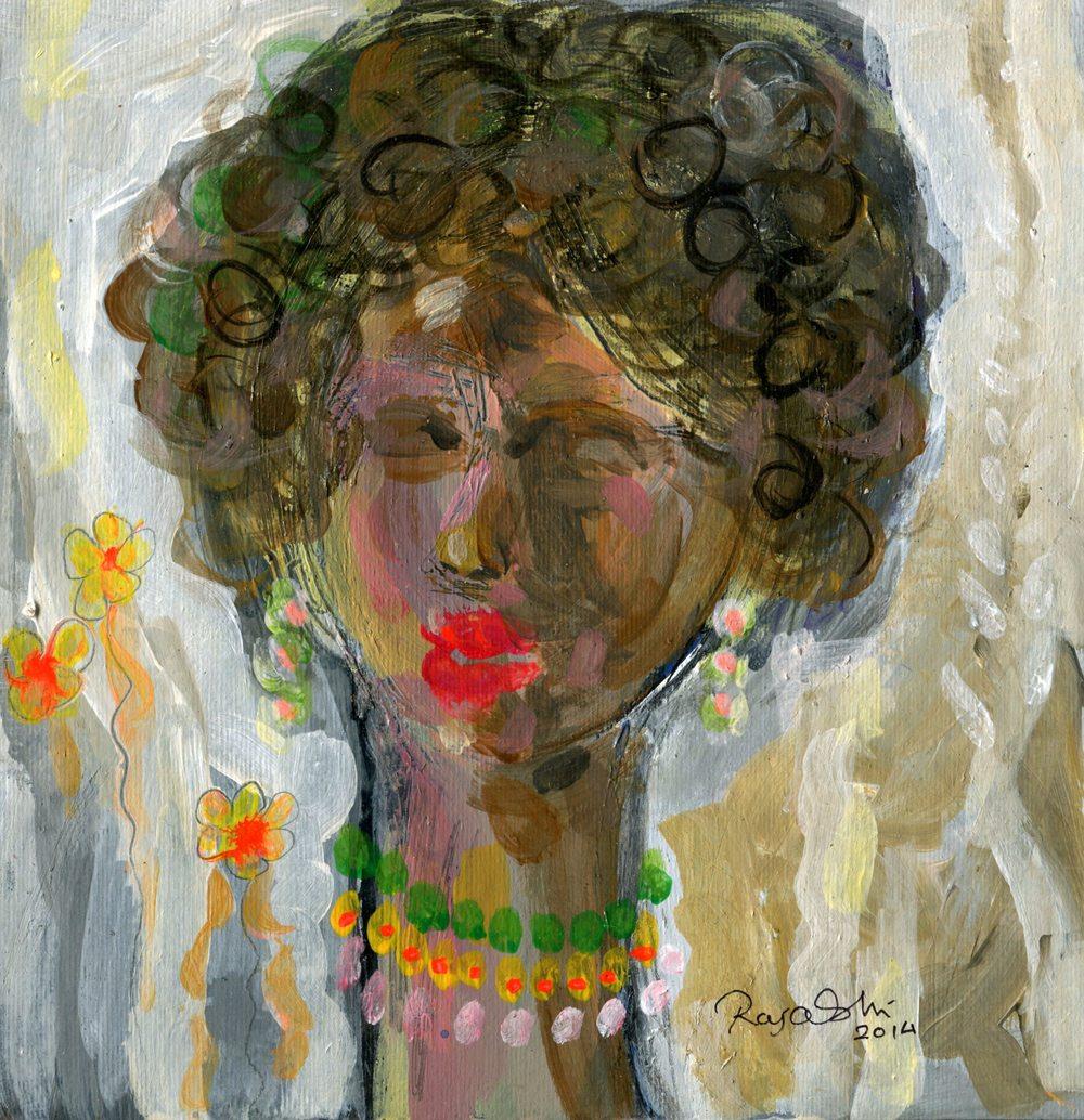 Oshi, Raja        59b  Portrait, Oil on card.