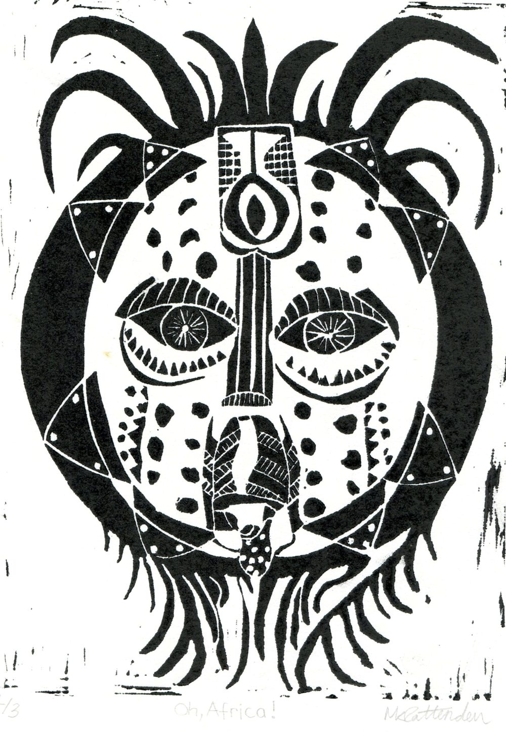 Pattenden,  Mhairi  23 Oh, Africa! Lino print