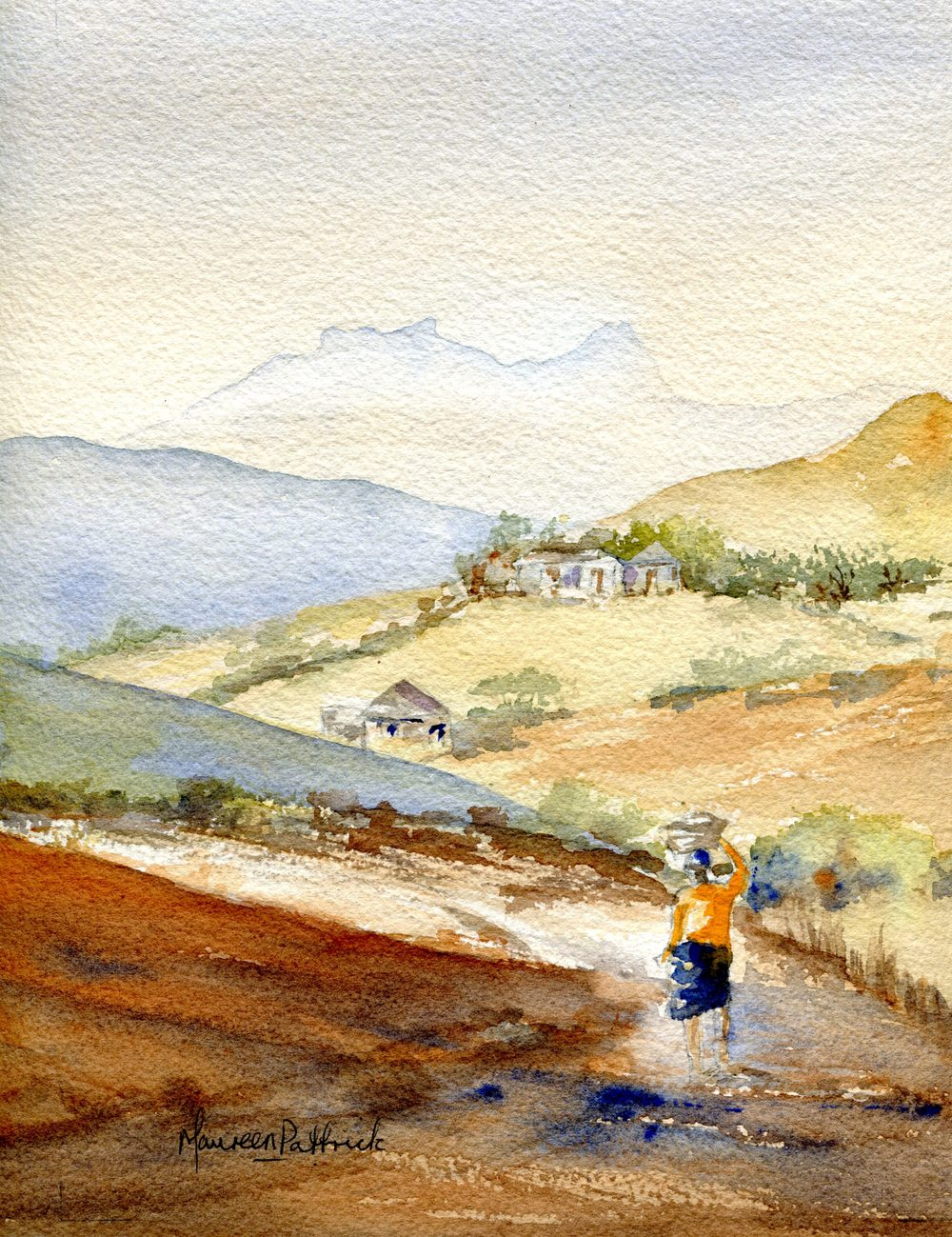 Pattrick, Maureen  21 Berg Landscape, Water-colour.