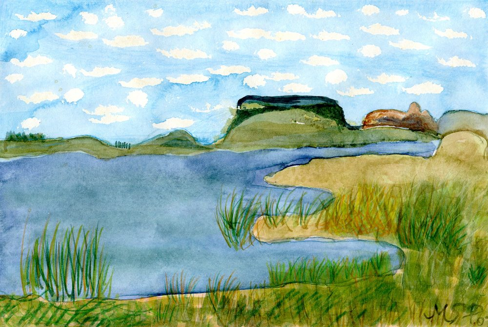 Pepperell, Marlise 35a Sterkfontein, Water-colour.