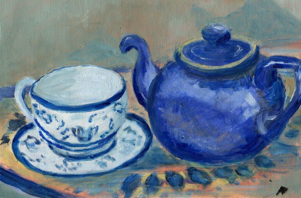 Pettifer, Anna 41b  Time for Tea, Oil on canvas.