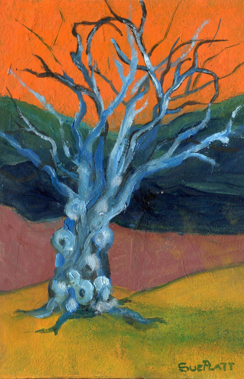 Platt, Sue  44a   The Ancestor Tree,  Oil on board.