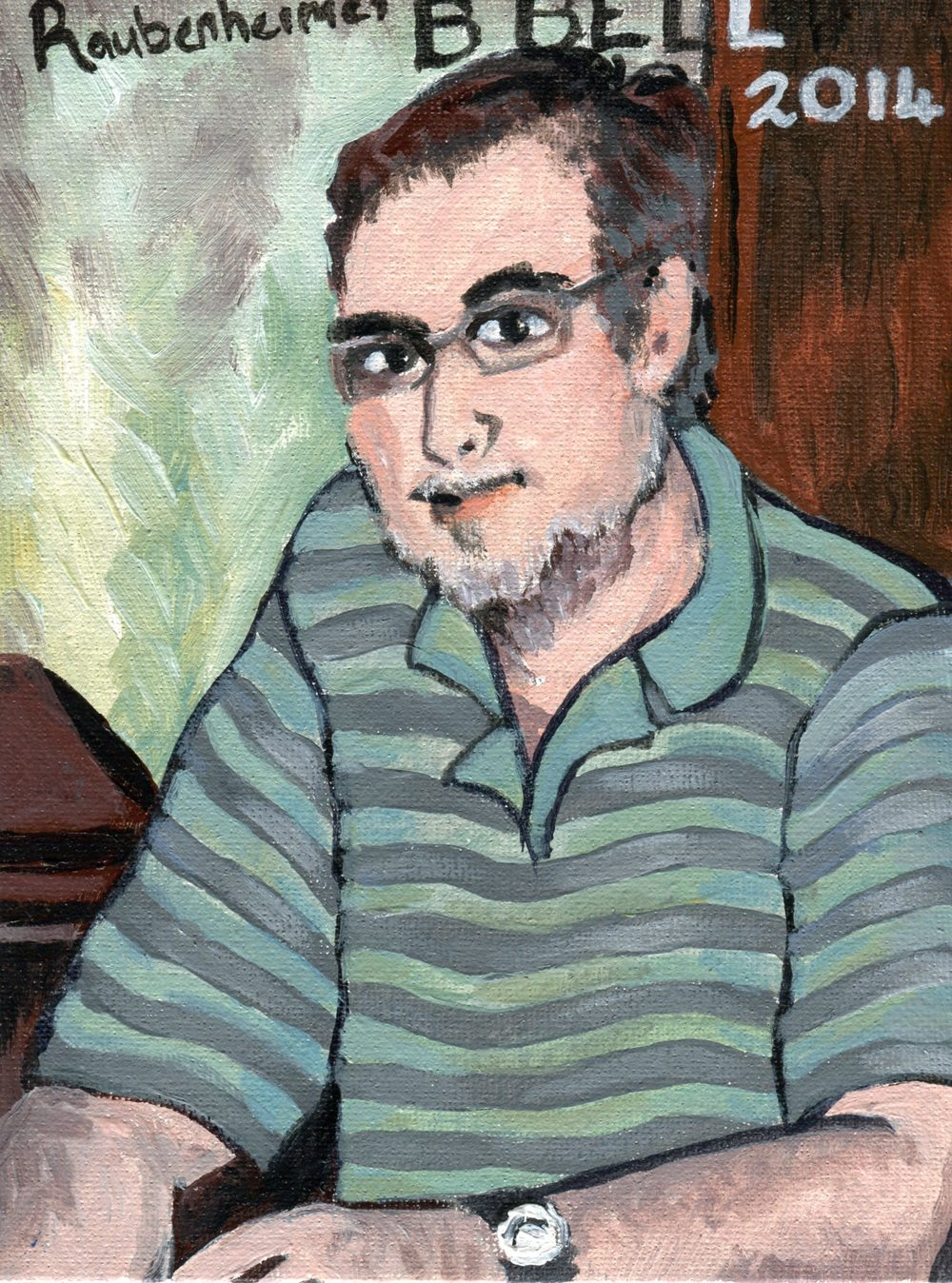 Raubenheimer, Anne  70a Portrait of Brendan Bell, Acrylic on canvas