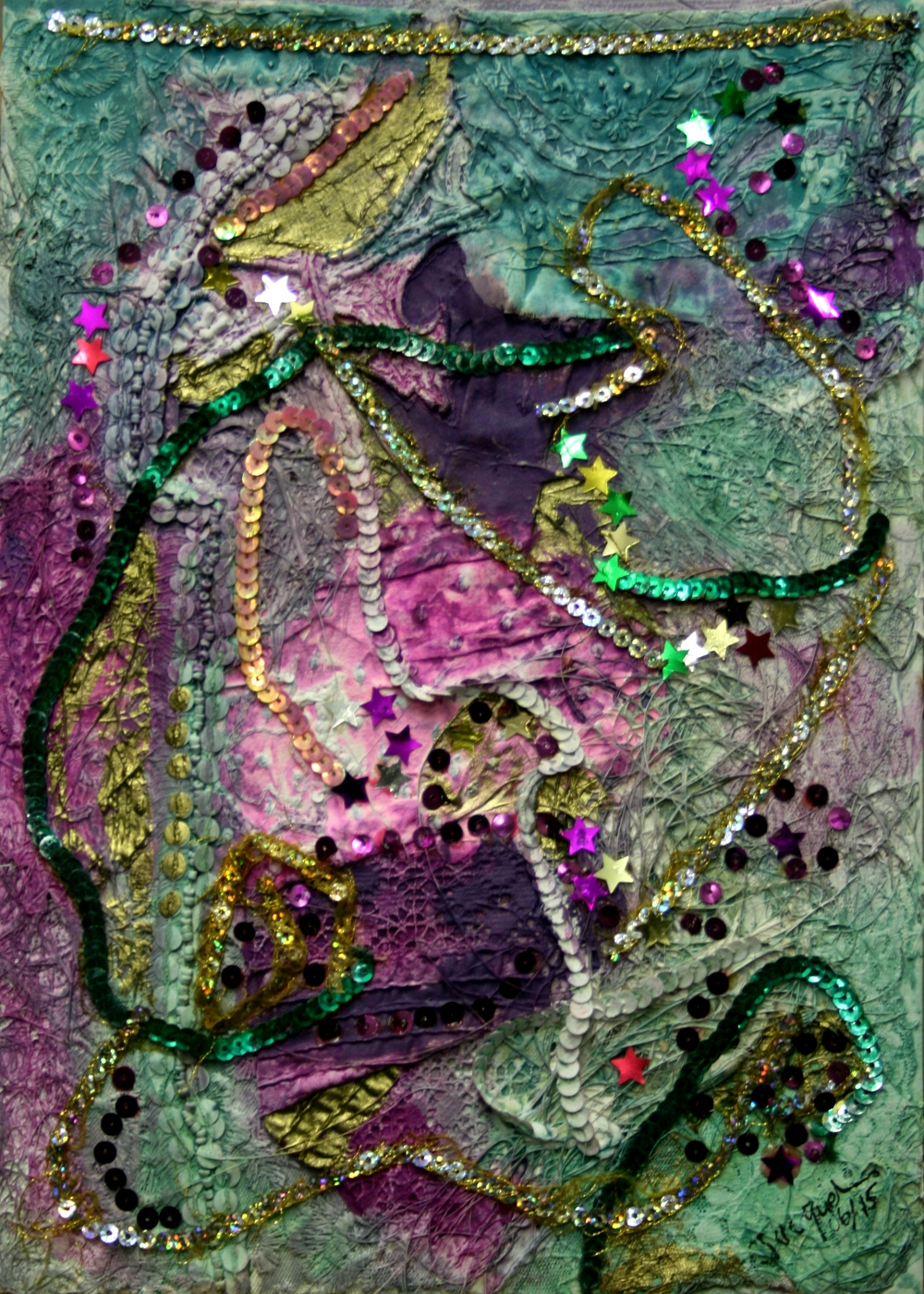 7a Jacqueline Edwards - Collage with sequins