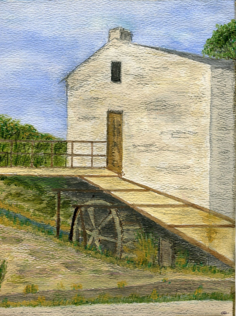 10b Lake, Chris-The Old Prince Albert Watermill,Water colour on canvass.jpg