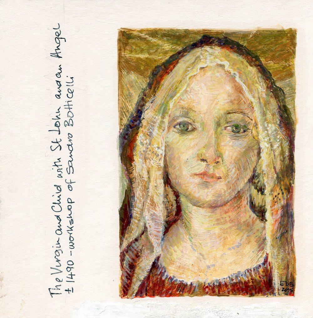 15 Banach, Evelyn-Virgin (after Batticelli), Egg tempera.jpg