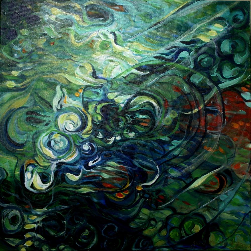 33 Maurice Green,Jenni-Whirlpool, Oil on canvass.JPG