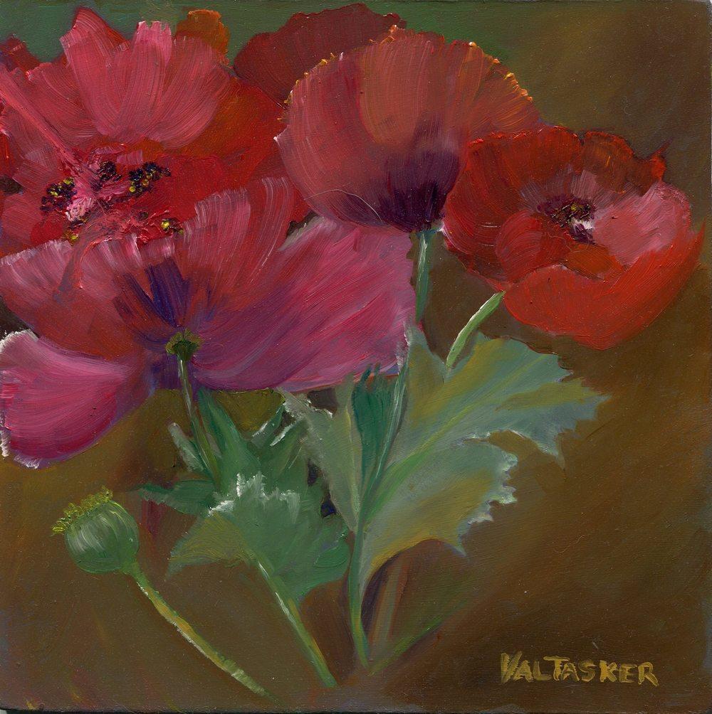 43 Tasker, Valerie Ann- Oriental Poppies, Oil.jpg