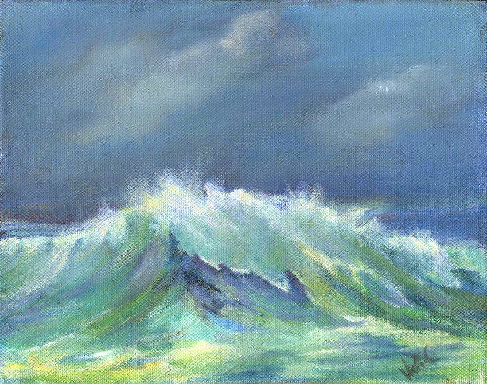 51a Cressey, Vicki - Stormy Sea, Oil.jpg
