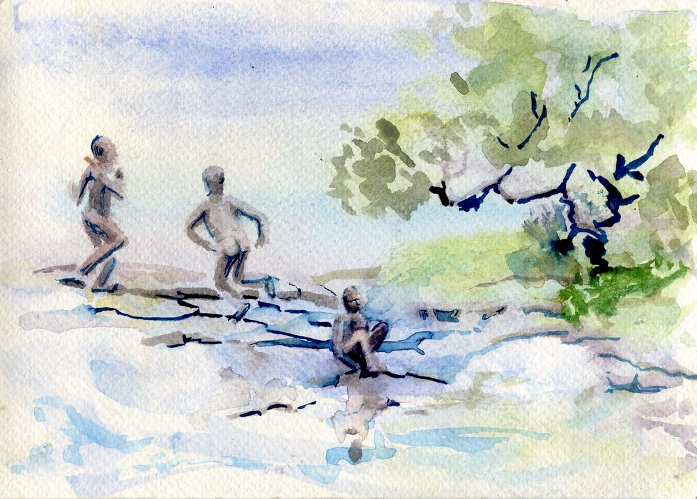 54a Fairlamb, Ruth - Cooling Off, Water colour.jpg