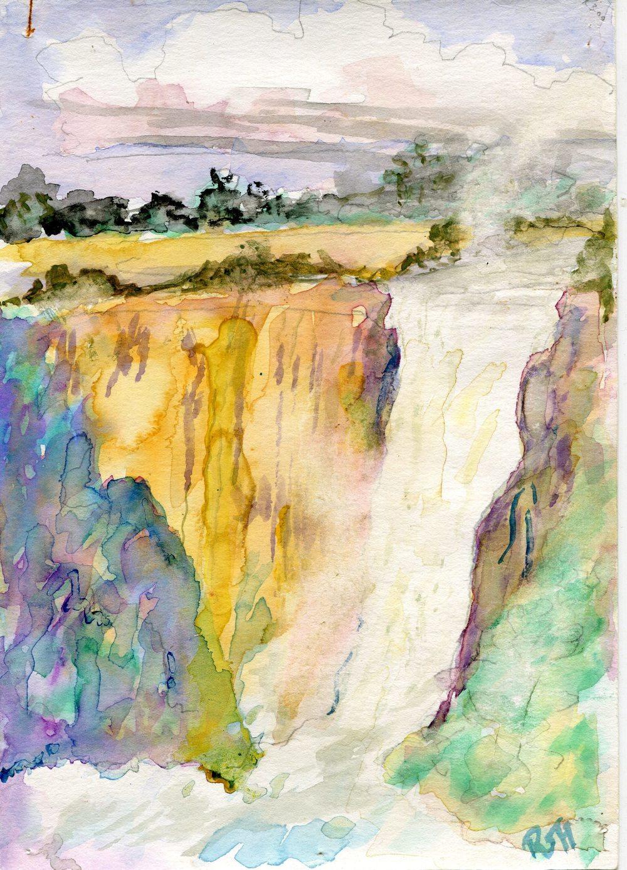54b Fairlamb, Ruth- Howick Falls, Water colour.jpg