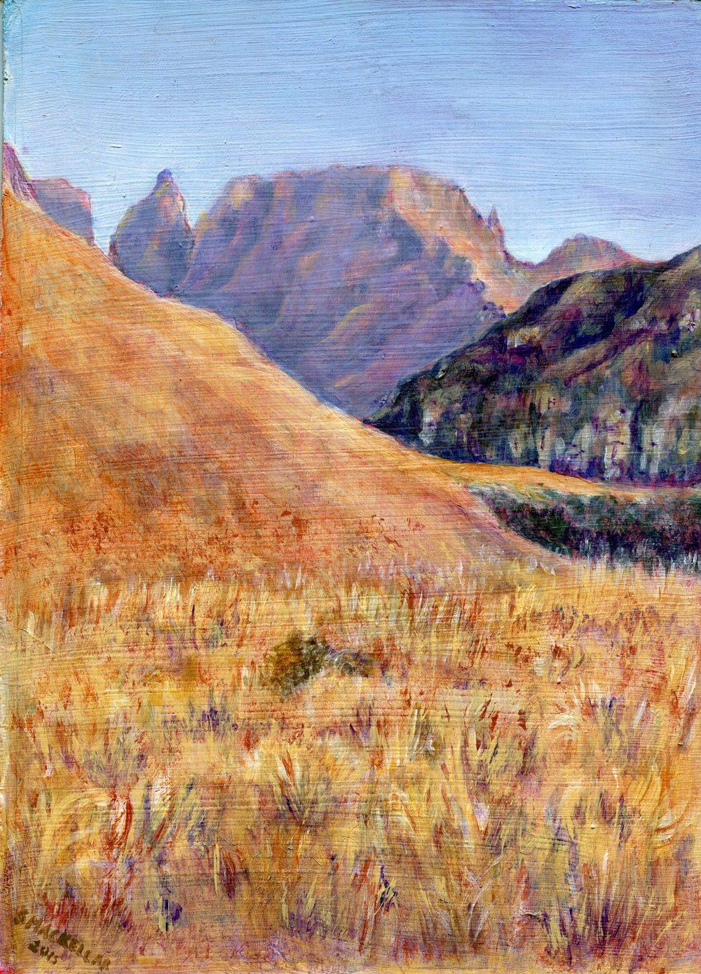 57  Mackellar, Shirley - Monks Cowl Drakensberg, Acrylic.jpg
