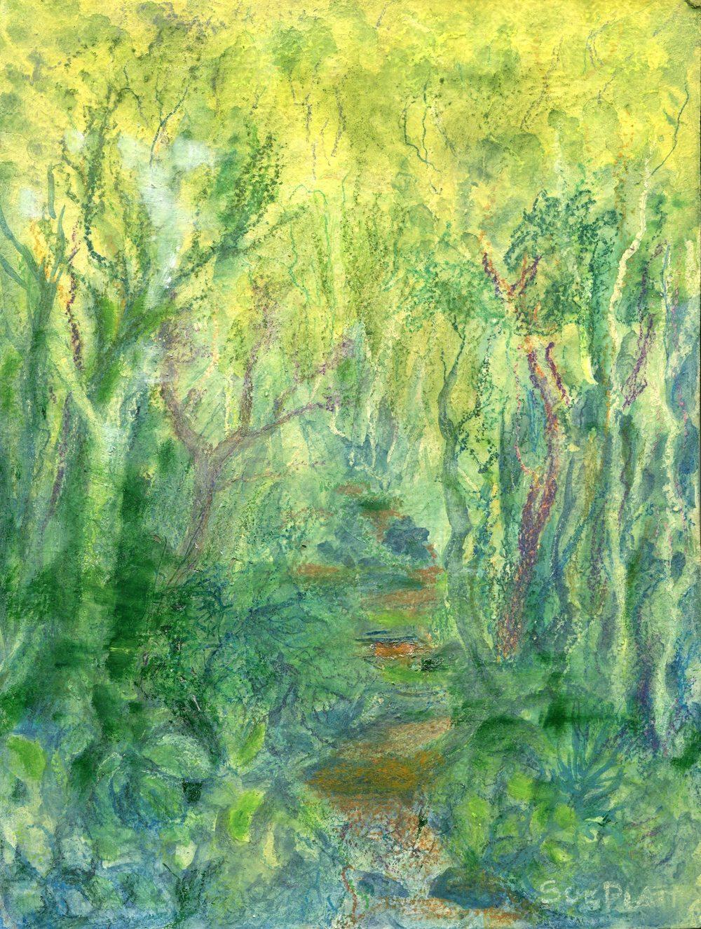 56b Platt, Sue- Forest Path, Mixed Media.jpg