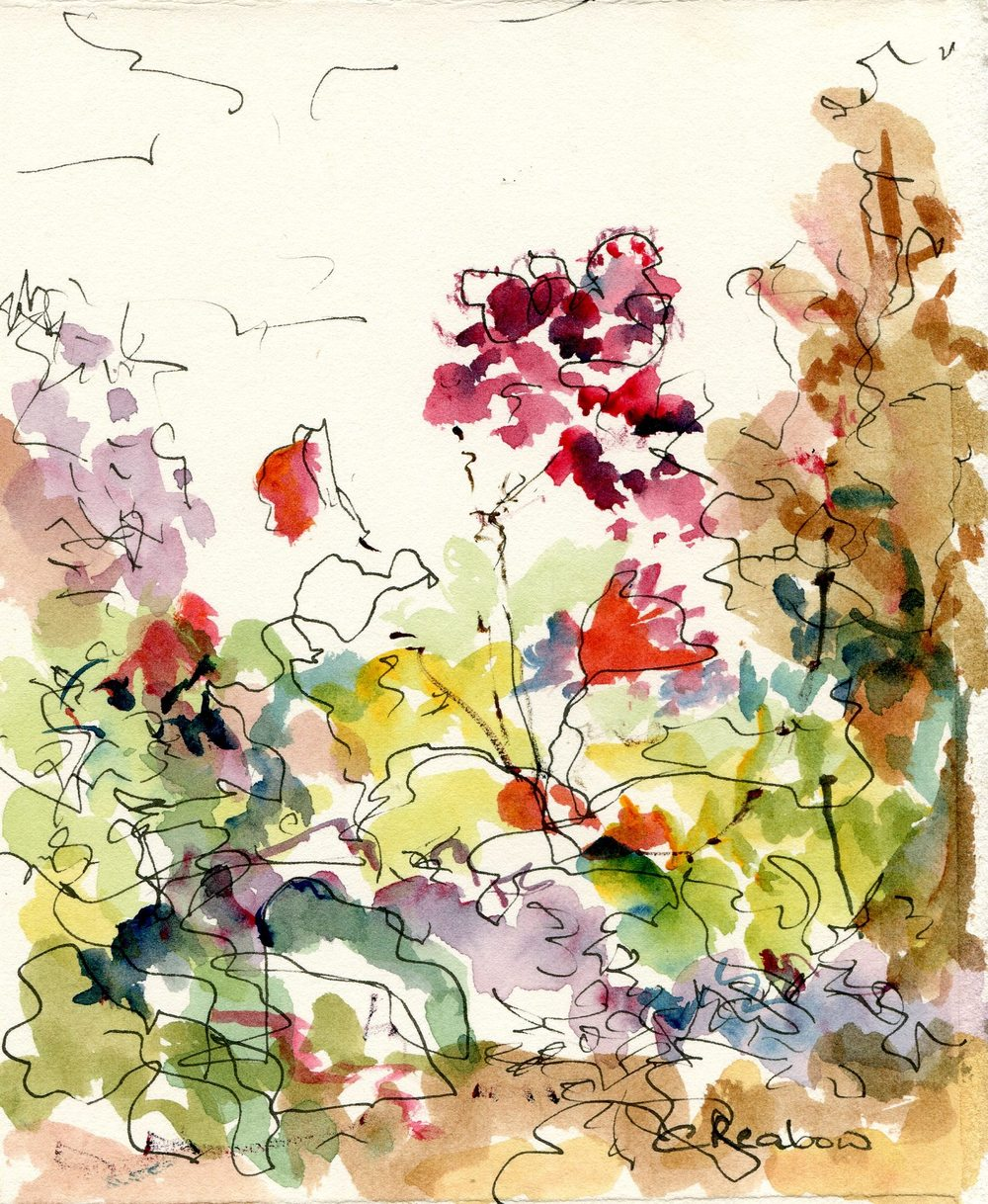 60a Reabow,Chris- Floral Study I, Watercolour and Ink.jpg