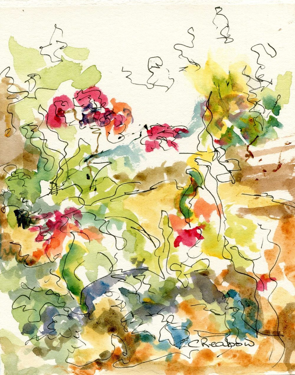 60b Reabow,Chris- Floral Study II, Watercolour and Ink.jpg