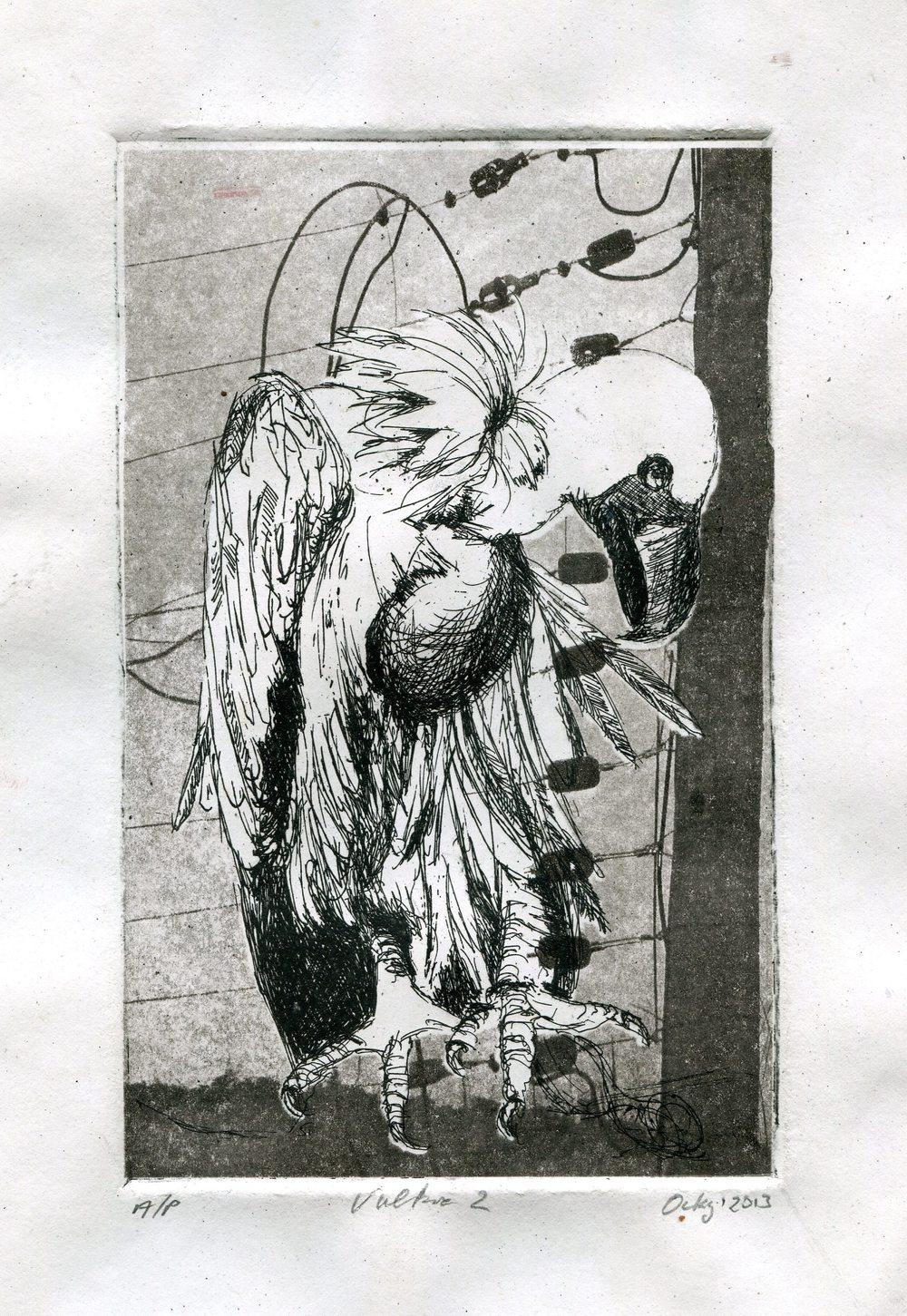 63b Kruger, Ockert- Vulture 1, Etching.jpg