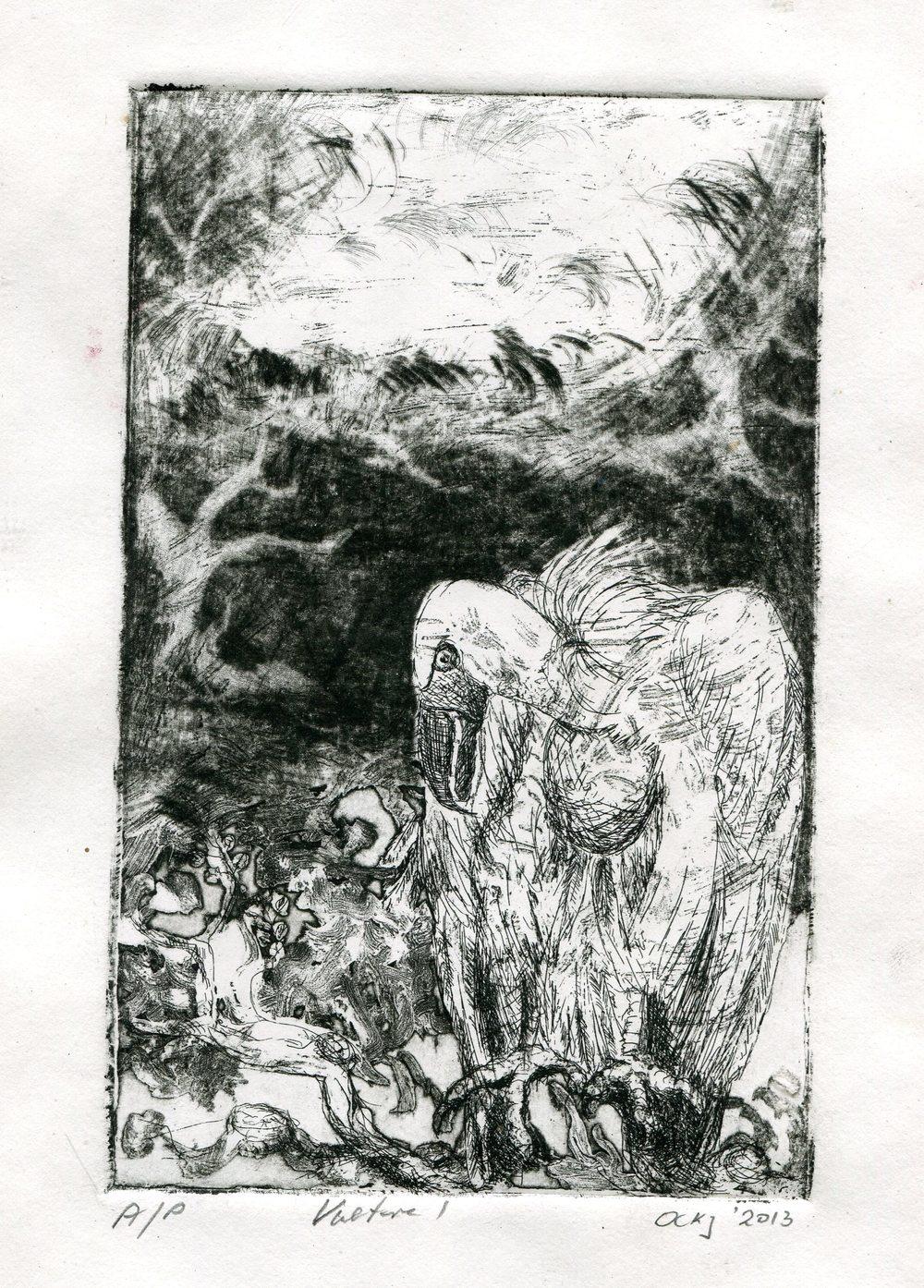 63a Kruger, Ockert- Vulture 1, Etching.jpg