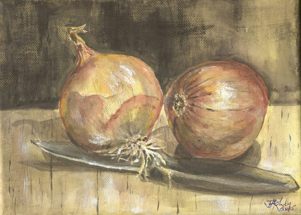 67b Kohly, Janeen - Still Life - Onions and Knife, Acrylic on canvass.jpg