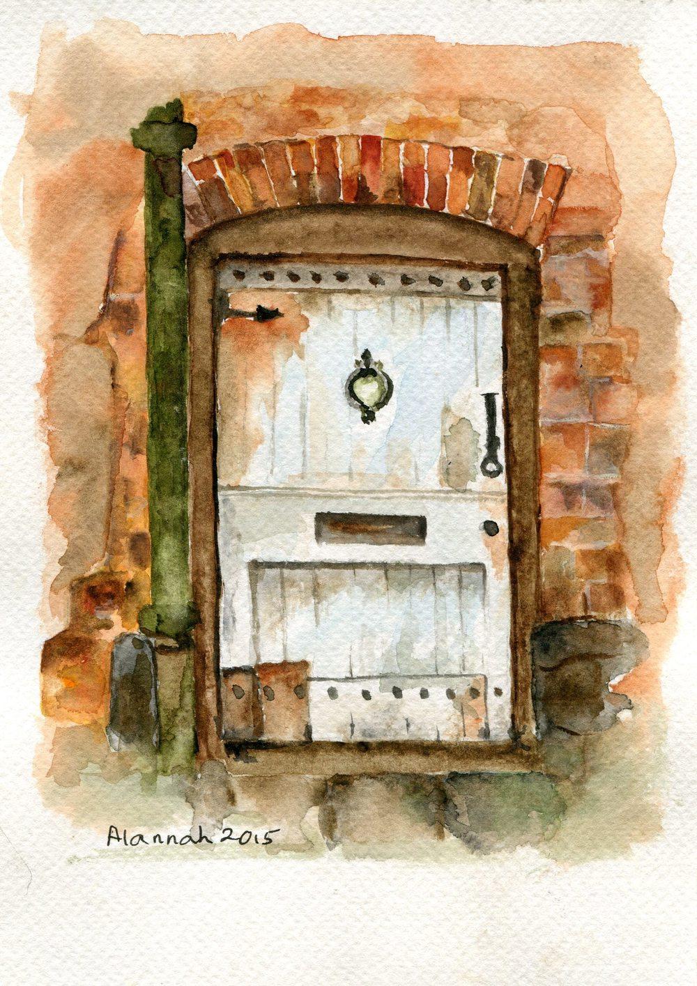 65a Valentine, Alannah - Textured Door, Watercolour.jpg