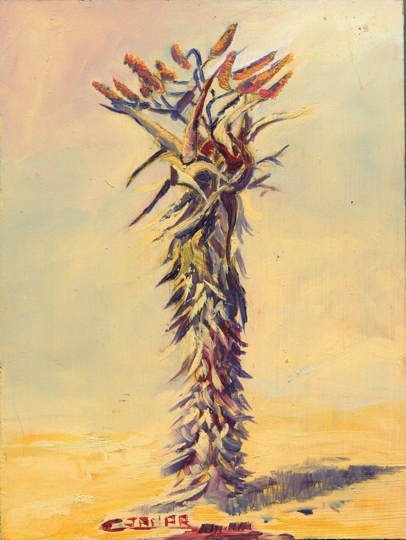 72b Varney Jamar, Christiane - Aloe candelabra 2, oil on block.jpg