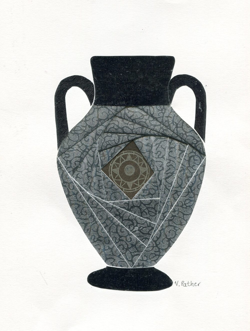 79 Pather, Vernie - Silver Urn, Mixed media..jpg