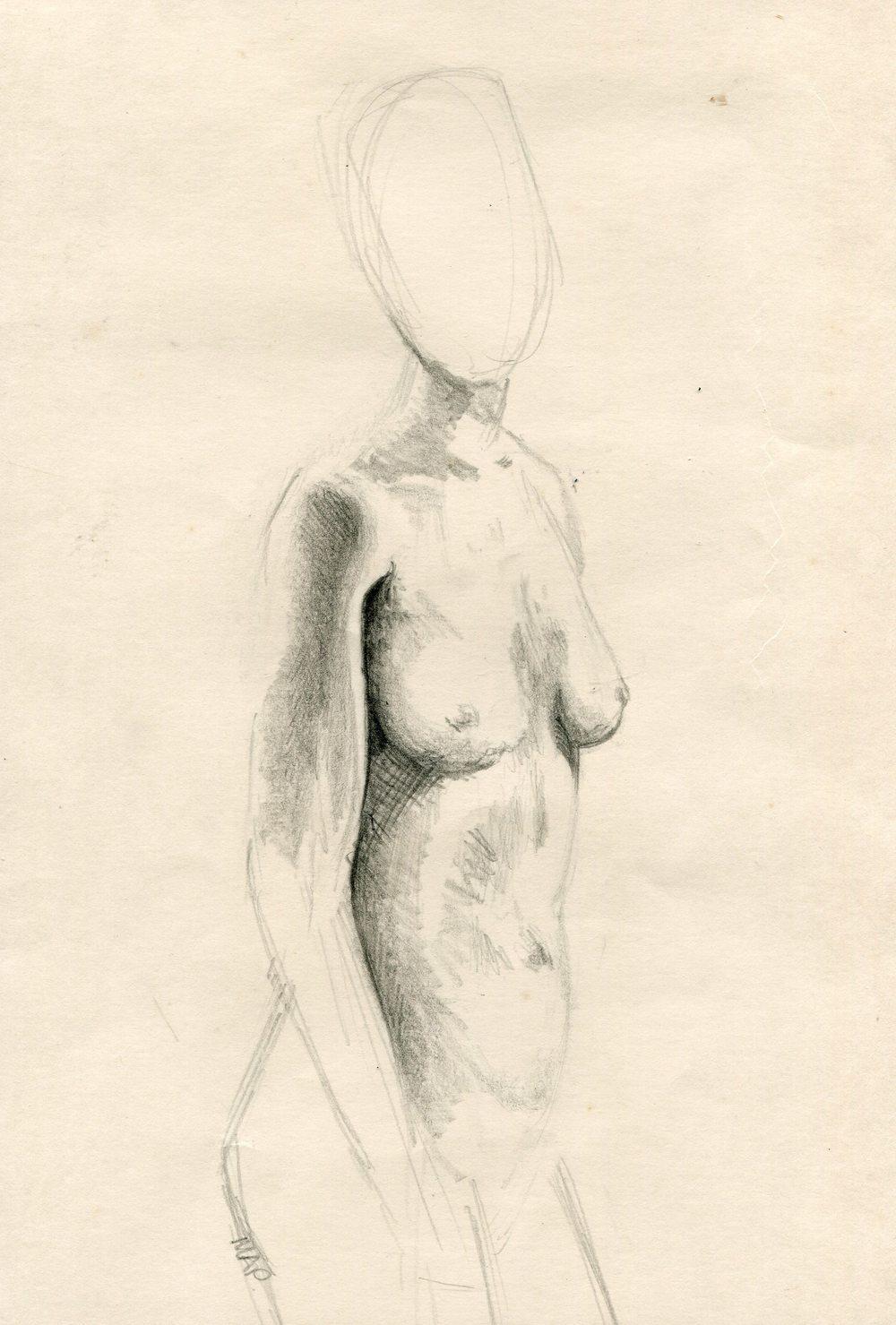 80b Pattenden, Marilyn - Nude, Pencil on paper..jpg