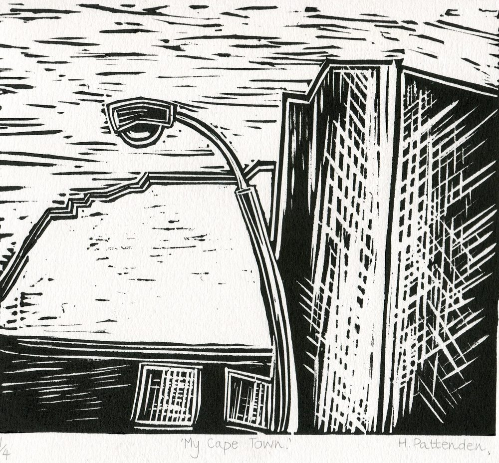 81c Pattenden, Heather - My Cape Town, Lino Print.jpg