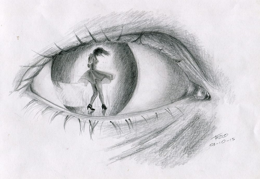 87a Moodley, Tazlo - The Dancing Eye, Pencil on paper.jpg