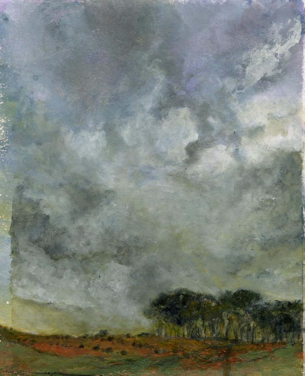 92b Jacobs, Shan - Landscape with Clouds, Mixed media.jpg