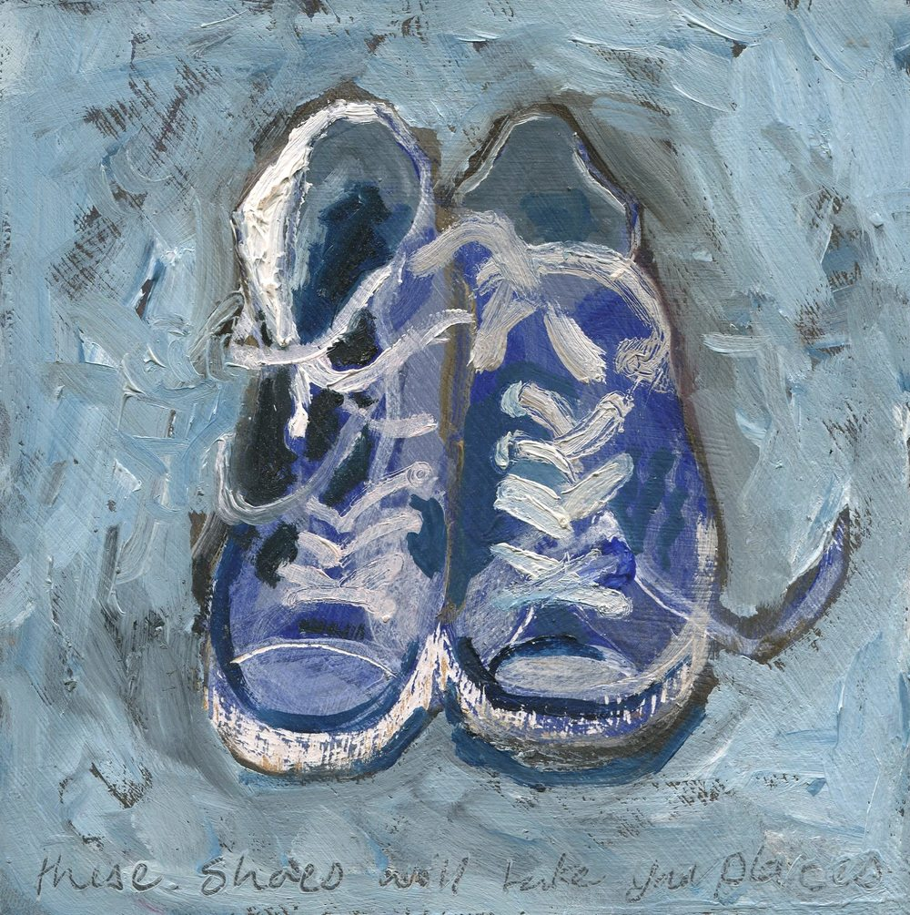 95b Spencer, Faye - These shoes will take you places, Oil on board.jpg