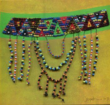 7b Edwards, Jacqueline Ann, Wearable art, Beads and acrylic on board..jpg